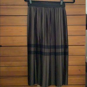 Zara Pleated Skirt with Glitter Waistband